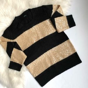 J. Crew ❤️ Sequin Stripe Sweater ❤️ Size XS